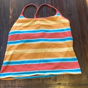 Colorful racer back tank